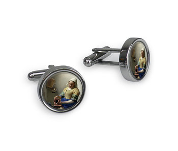Cufflinks, The Milkmaid, Vermeer