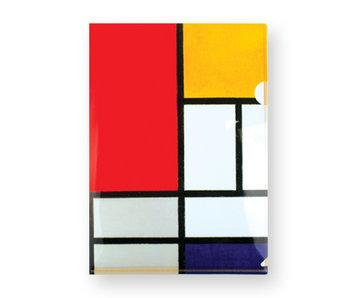 Funda portadocumentos de plástico, tamaño A4, Mondrian