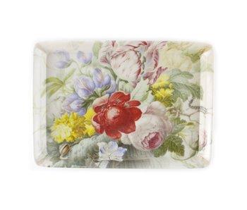 Mini plateau, 21 x 14 cm, Nature morte aux fleurs, Henstenburgh