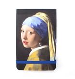 Pocket Note A7, Fille avec une boucle d'oreille perle, Vermeer