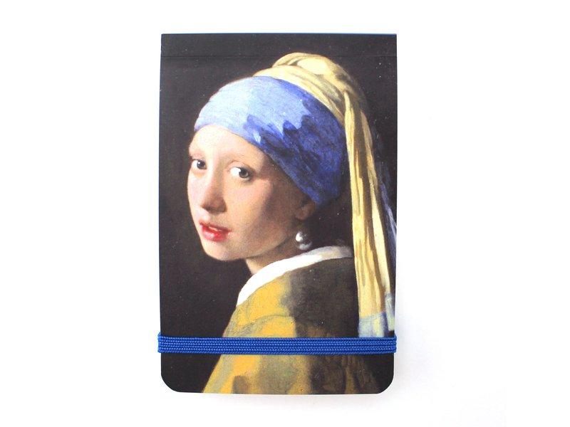 Pocket Note A7, Mädchen mit Perlenohrring, Vermeer