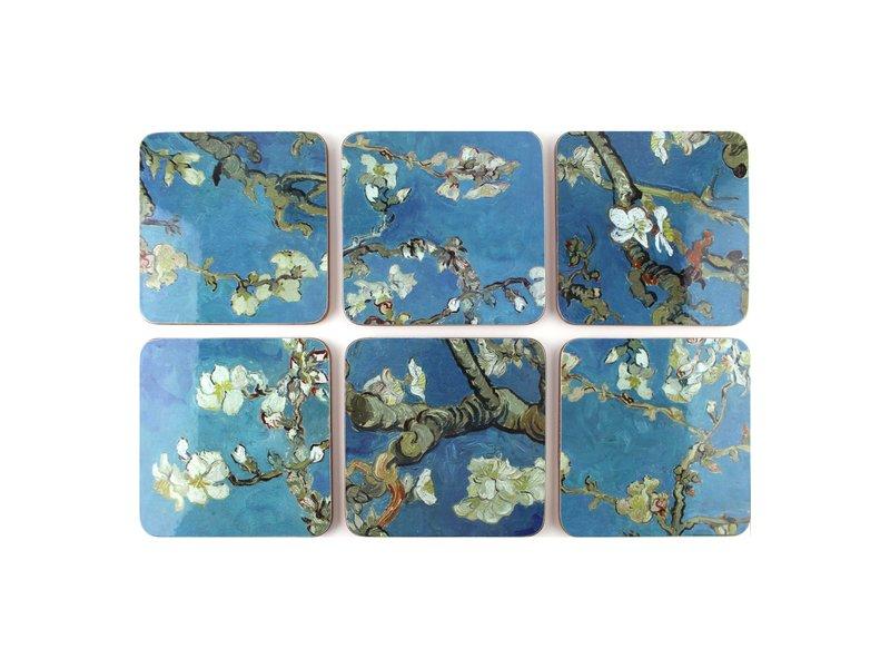 Dessous de verre, fleur d'amandier, Van Gogh