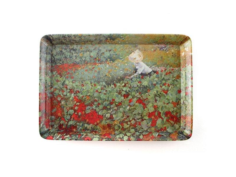 Mini dienblad , 21 x 14 cm, De Tuin , Van Looy