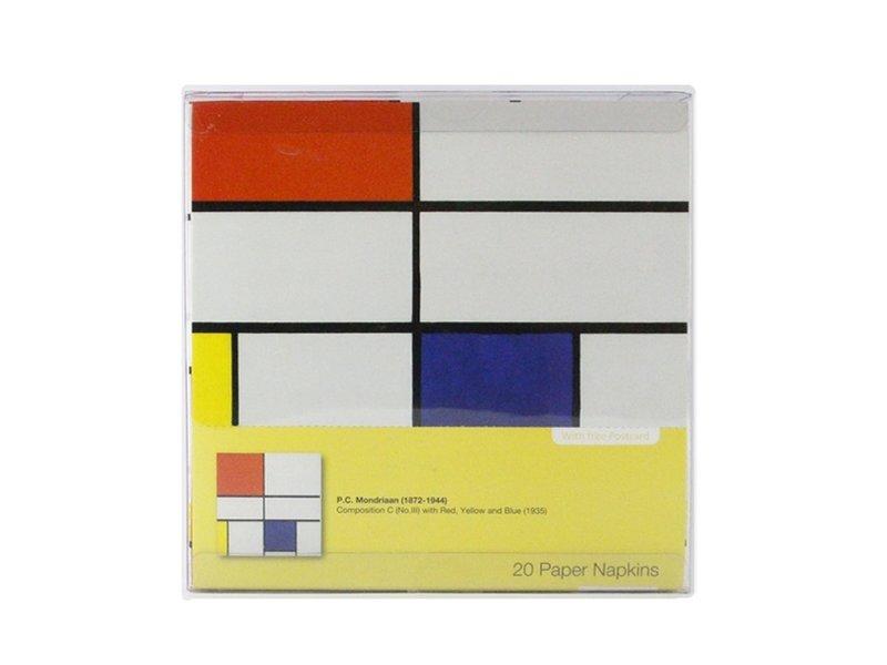 Papieren servetten, Mondriaan