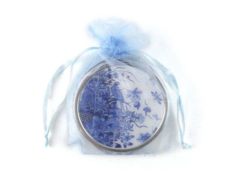 Klappspiegel, Delfter blaue Fliesenplatte