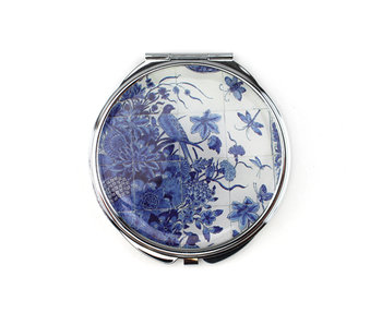 Folding Pocket Mirror, Delftblue Tiletableau