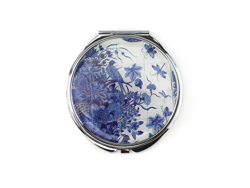Espejo plegable, panel de azulejos azules de Delft