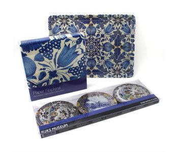 Set de regalo, Delft Blue, sobre la mesa