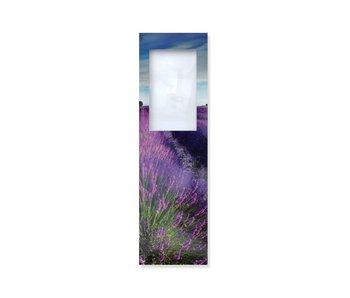 Boekenlegger met loep, Lavendel veld