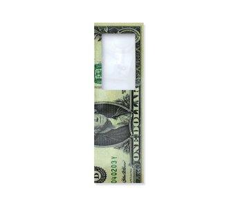 Marcador con lupa, Billete de 1 dólar