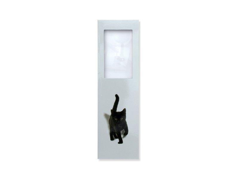 Marcador con lupa, gatito