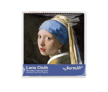Linsentuch, 15 x 15 cm, Mädchen mit Perlenohrring