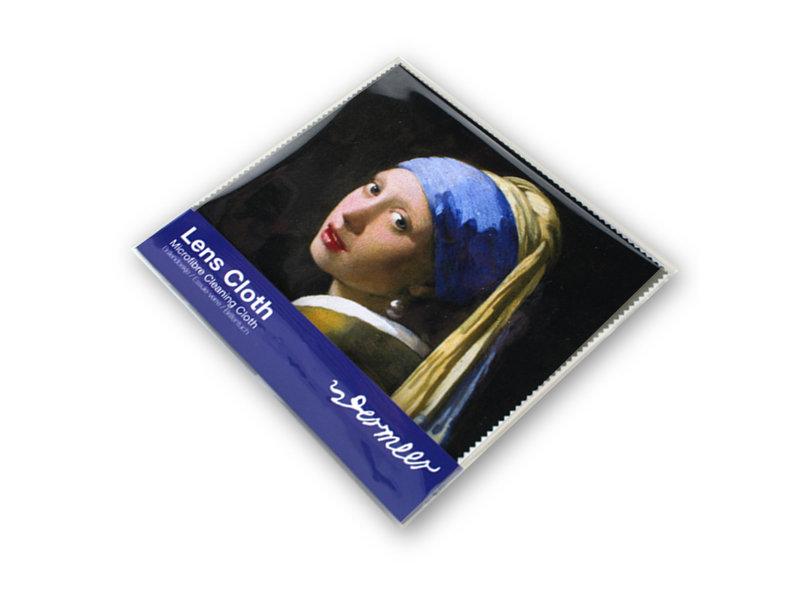 Essui-verres, 15 x 15 cm, Fille avec une boucle d'oreille en perle