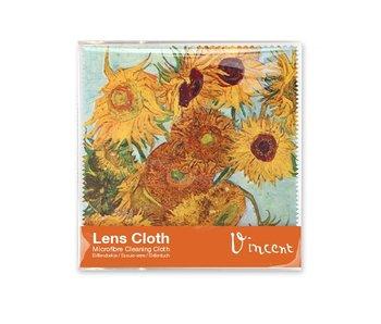 Chiffon à lunettes, 15 x 15 cm, Tournesols, Van Gogh