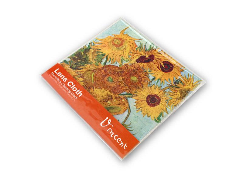 Linsentuch, 15 x 15 cm, Sonnenblumen, Van Gogh