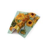 Paño de gafas, 15 x 15 cm, girasoles, Van Gogh