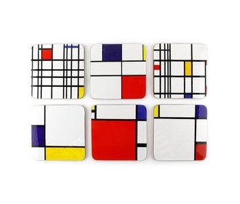 Dessous de verre, Composition, Mondrian