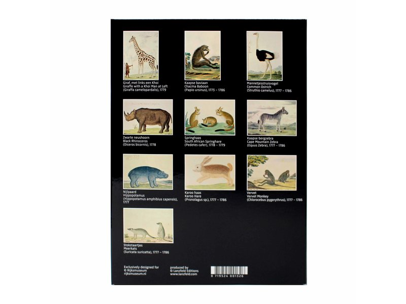 Porte-cartes, Rijksmuseum, R.J. Gordon, Animaux