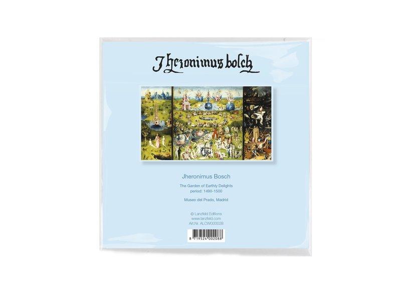 Essui-verres, 15x15 cm, Jheronimus Bosch