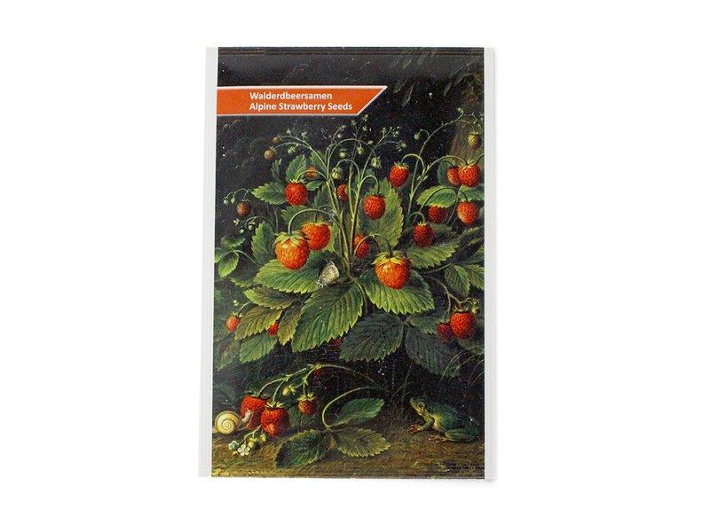 Carte postale avec des graines de fraises, Schlesinger