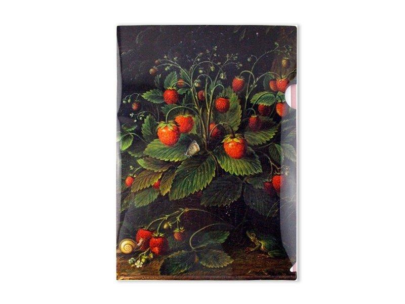 Filesheet A4,  Schlesinger, Erdbeeren