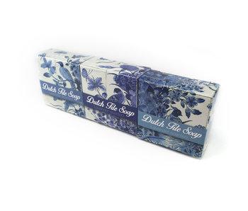 Delfts blauwe tegelzeep, set van 3 zeepjes