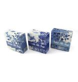 Set de 3 savons, carreaux bleu Delft