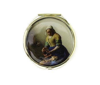 Espejo plegable, La lechera, Vermeer