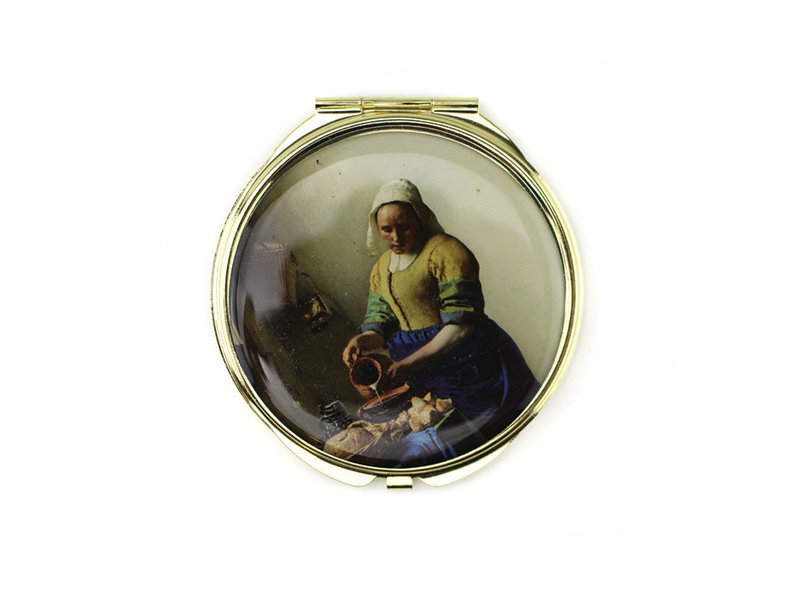 Folding Pocket Mirror W, Vermeer, The Milkmaid