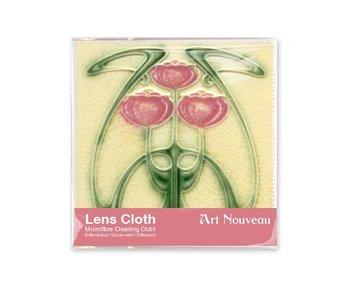 Lens cloth, 15 x 15 cm, Art nouveau