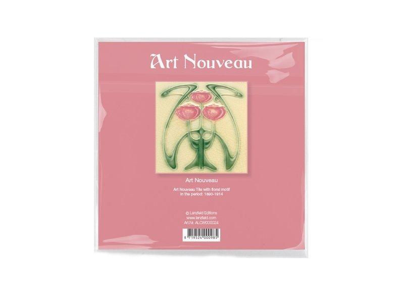Paño de gafas, 15 x 15 cm, Art nouveau