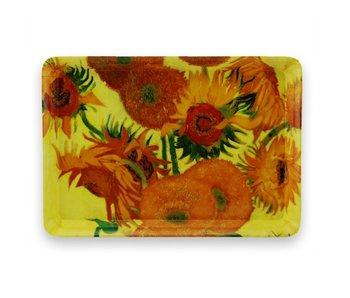 Mini bandeja, 21 x 14 cm, girasoles, Van Gogh