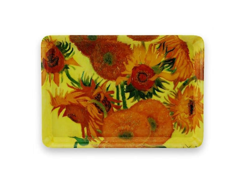 Mini plateau, 21 x 14 cm, Tournesols, Van Gogh