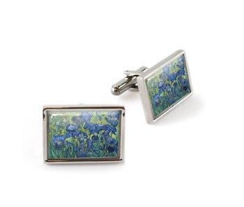Cufflinks, Irises, Van Gogh