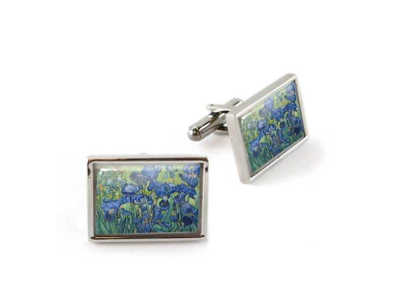 Cufflinks, Irisses, Van Gogh
