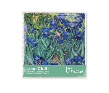 Brillenputztuch, 15 x 15 cm, Iris, Van Gogh