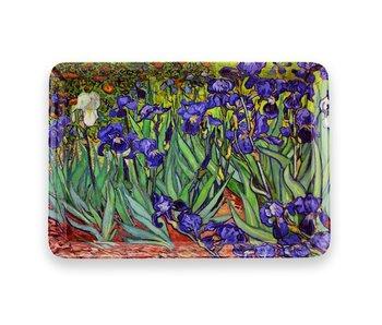Mini tray, 21 x 14 cm, Irises, Van Gogh