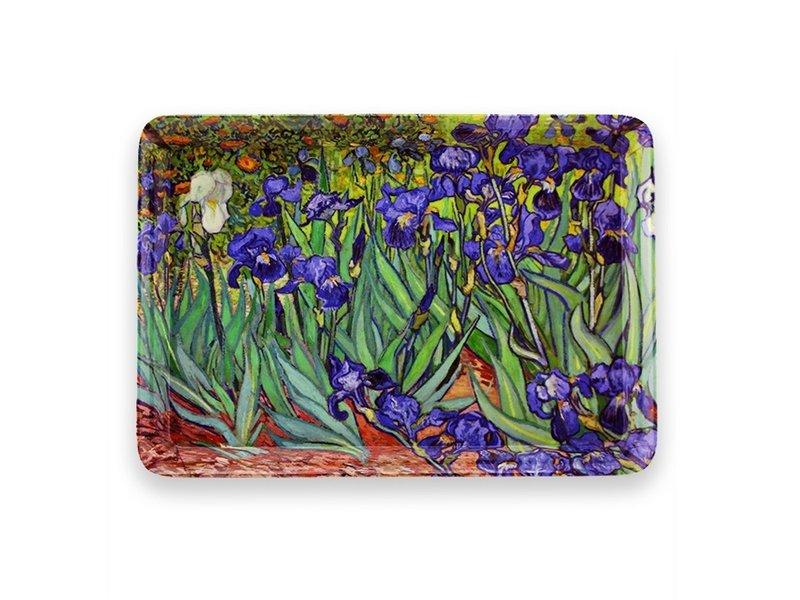 Mini plateau, 21 x 14 cm, Les Iris, Van Gogh