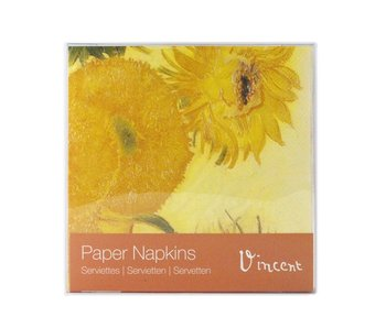 Serviettes papier, Tournesols, Van Gogh