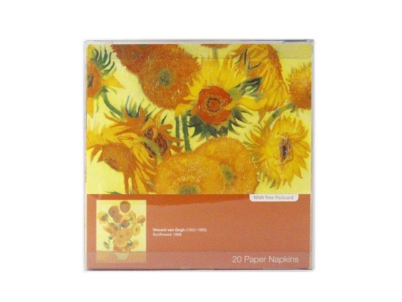 Papieren Servetten, Zonnebloemen, Van Gogh