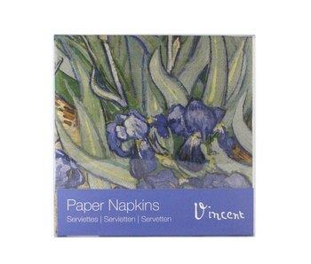 Paper Napkins, Irises, Van Gogh