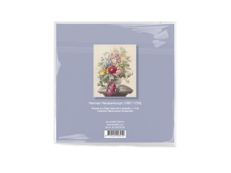 Brillendoekje, 15 x 15 cm, Bloemen, Henstenburgh