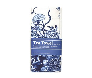 Tea Towel, Tile tableau with blue birds