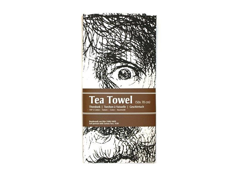 Tea Towel, Rembrandt, Curious Face
