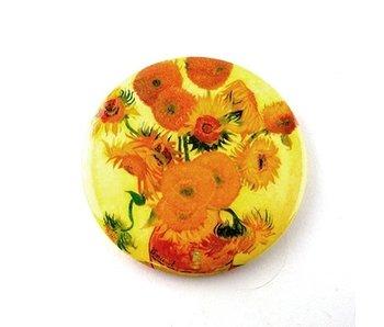 Espejo de bolsillo, Ø 80 mm, girasoles, Van Gogh