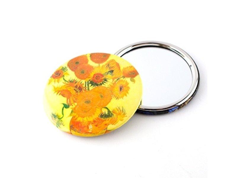 Spiegeltje, Ø 80 mm, Zonnebloemen, Van Gogh