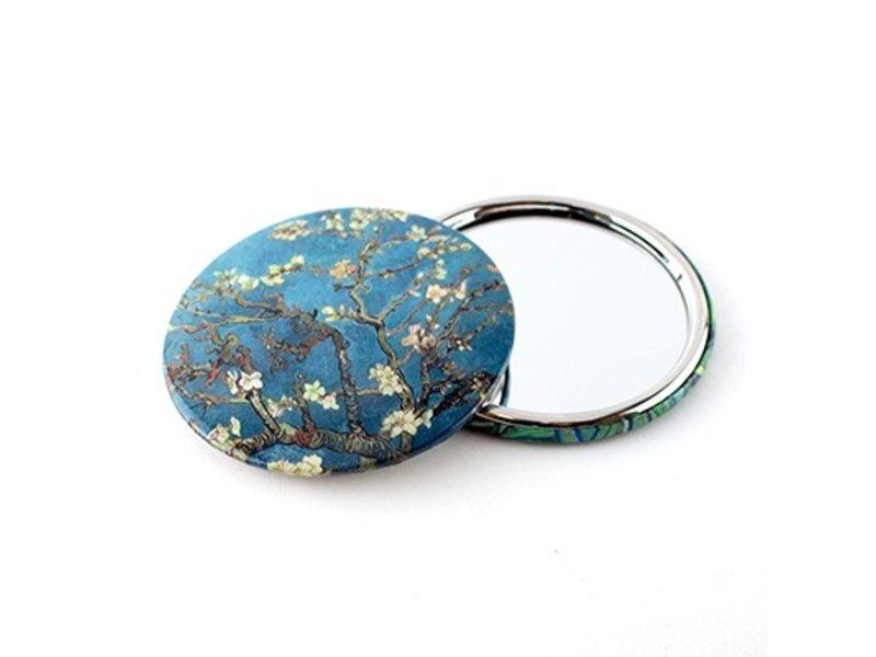 Miroir de poche, Ø 80 mm, Fleur d'amandier, Van Gogh