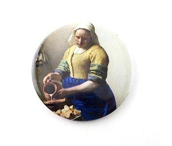 Taschenspiegel, Ø 80 mm, Milchmädchen, Vermeer