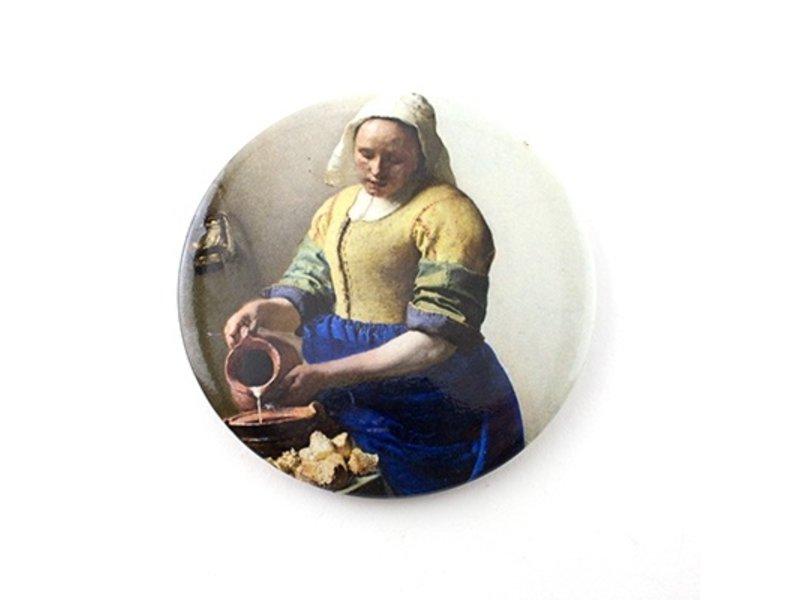 Spiegeltje ,  Ø 80 mm, Het melkmeisje , Vermeer