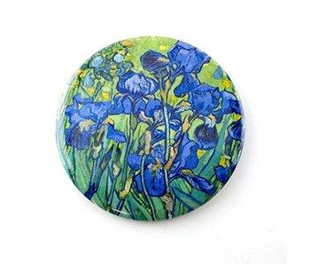 Miroir de poche, Ø 80 mm, Iris, Van Gogh